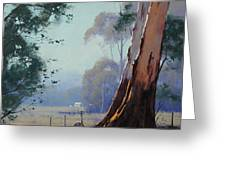 Australian Farm Painting Greeting Card by Graham Gercken