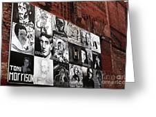 Authors In Boston Greeting Card by John Rizzuto