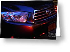 Auto Headlight 167 Greeting Card by Sarah Loft