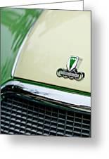 Auto Union Dkw Hood Emblem Greeting Card by Jill Reger