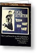 Autographed Poster Of Rock Legend Mike Ness  Greeting Card by Renee Anderson