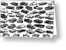 AUTOMOTIVE PEN AND INK POSTER Greeting Card by Jack Pumphrey