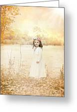 Autumn Angel Greeting Card by Cindy Singleton