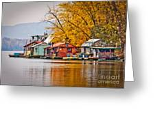 Autumn at Latsch Island Greeting Card by Kari Yearous