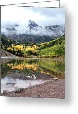 Autumn At Maroon Bells In Colorado Greeting Card by Julie Magers Soulen