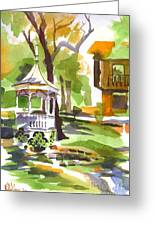 Autumn At The Rectory Greeting Card by Kip DeVore