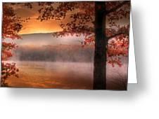 Autumn Atmosphere Greeting Card by Lori Deiter