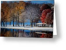 Autumn Blues Greeting Card by Rob Blair