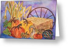 Autumn Bounty Greeting Card by Ellen Levinson