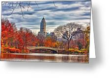 Autumn Bridge Greeting Card by Nishanth Gopinathan