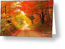 Autumn Cameo 2 Greeting Card by Terri Gostola