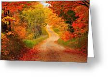 Autumn Cameo Greeting Card by Terri Gostola