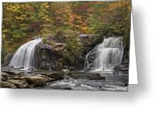 Autumn Cascades Greeting Card by Debra and Dave Vanderlaan