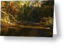 Autumn Colors By The Creek  Greeting Card by Saija  Lehtonen