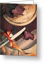 Autumn Dining Greeting Card by Amanda And Christopher Elwell