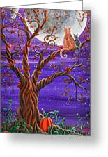 Autumn Evening Greeting Card by Kyra Wilson