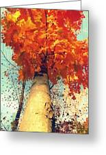 Autumn Fantasy 1 Greeting Card by France Laliberte