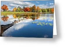Autumn Farm Pond Greeting Card by Bill  Wakeley
