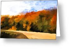 Autumn Fringe Greeting Card by Jo-Anne Gazo-McKim