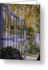 Autumn Garden Greeting Card by Julie Palencia
