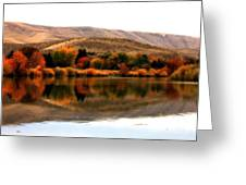 Autumn Glow On The Yakima River Greeting Card by Carol Groenen
