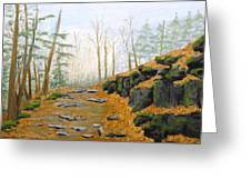 Autumn Hike Greeting Card by Peggy King