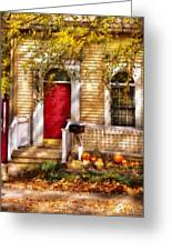 Autumn - House - A Hint Of Autumn Greeting Card by Mike Savad