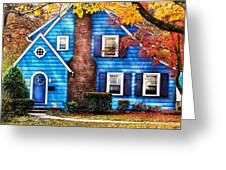 Autumn - House - Little Dream House  Greeting Card by Mike Savad