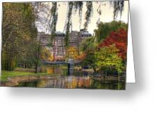 Autumn in Boston Garden Greeting Card by Joann Vitali