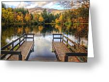 Autumn In Glencoe Lochan Greeting Card by Dave Bowman