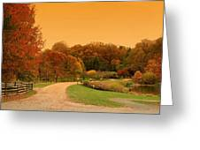 Autumn In The Park - Holmdel Park Greeting Card by Angie Tirado
