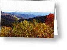 Autumn In The Smokey Mountains Greeting Card by Phil Perkins