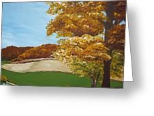 Autumn In The Valley Greeting Card by Monica Veraguth