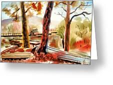 Autumn Jon Boats II Greeting Card by Kip DeVore