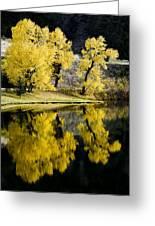 Autumn Lake Reflection Greeting Card by Patrick Derickson