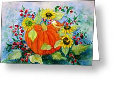 Autumn Greeting Card by Laura Nance