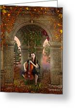 Autumn Melody Greeting Card by Bedros Awak