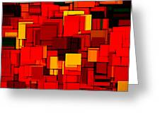 Autumn Modern Abstract Xv Greeting Card by Lourry Legarde