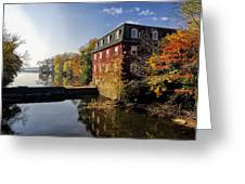 Autumn Morning At The Kingston Mill Greeting Card by George Oze