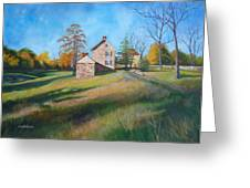 Autumn Morning Greeting Card by Diane Hutchinson