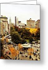 Autumn - New York Greeting Card by Vivienne Gucwa