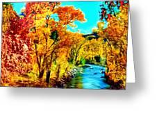 Autumn Oak Creek Sedona Arizona Greeting Card by Bob and Nadine Johnston