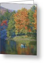 Autumn On The Lake Greeting Card by Marna Edwards Flavell