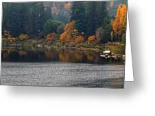 Autumn On The Umpqua Greeting Card by Suzy Piatt