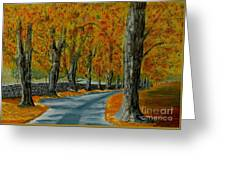 Autumn Pathway Greeting Card by Anthony Dunphy