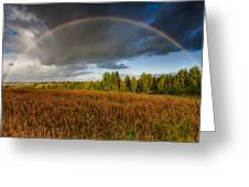 Autumn Rainbow Greeting Card by Erik Brede