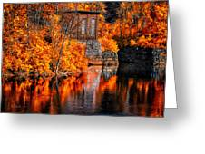 Autumn Reflections  Greeting Card by Bob Orsillo