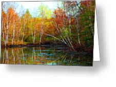 Autumn Reflections Greeting Card by James Hammen