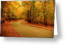 Autumn Serenity - Holmdel Park  Greeting Card by Angie Tirado