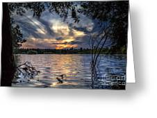 Autumn Sky Greeting Card by Stelios Kleanthous